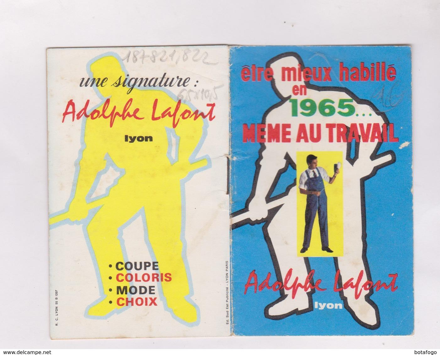 PETIT CALENDRIER  1965    ADOLPHE LAFONT VETEMENTS DE TRAVAIL - Calendriers