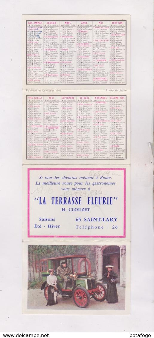 PETIT CALENDRIER  1966 (en 4 Volets) LA TERRASSE FLEURIE - Calendriers