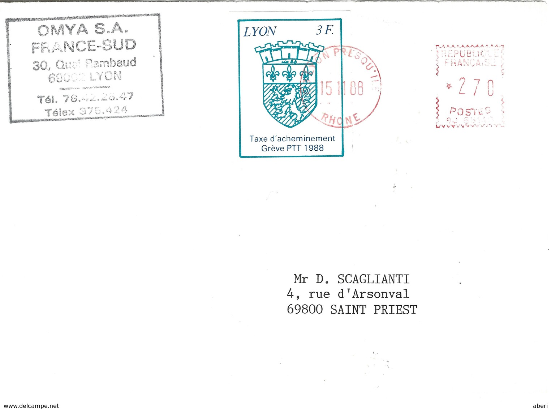 12996 GRÈVE à LYON - 1988 - - Strike Stamps