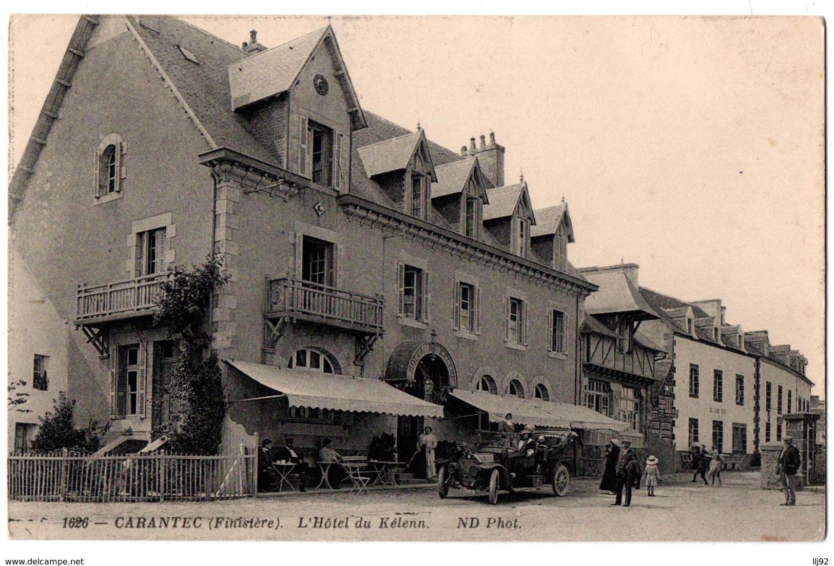 CPA 29 - CARANTEC (Finistère) - 1626. L'Hôtel Du Kélenn (animée, Voiture) - ND - Carantec