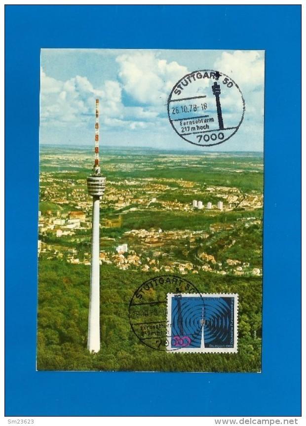 BRD 1965   Mi.Nr. 481, Deutsche Funkausstellung Stuttgart - Maximum Karte - Sonder Stempel  Stuttgart 26.10.78 - [7] Federal Republic