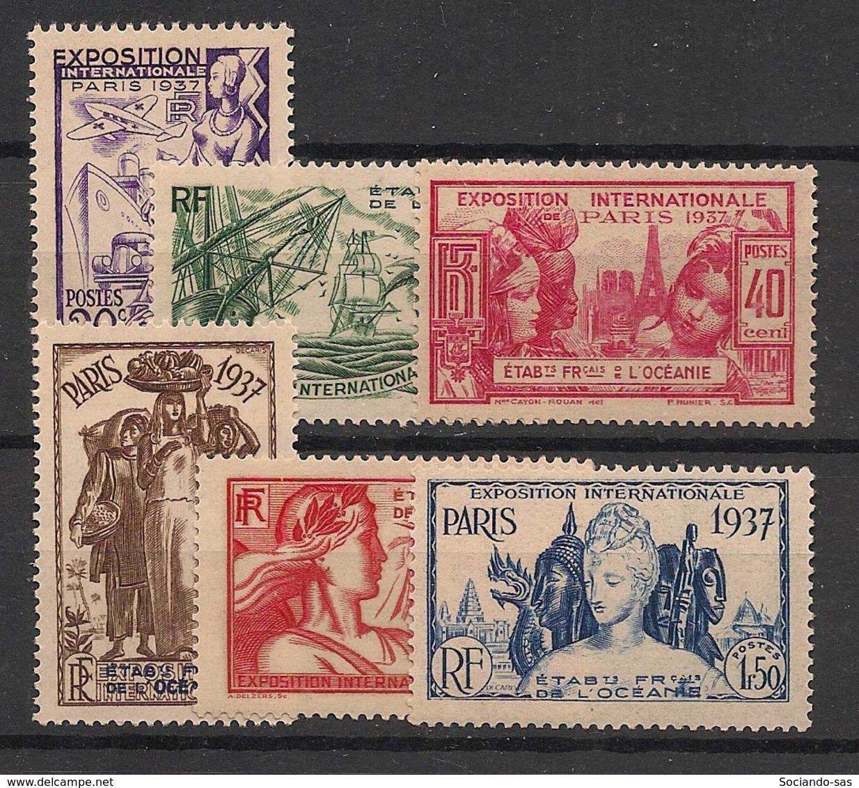 Océanie - 1937 - N°Yv. 121 à 126 - Série Complète - Exposition Internationale - Neuf Luxe ** / MNH / Postfrisch - Oceania (1892-1958)
