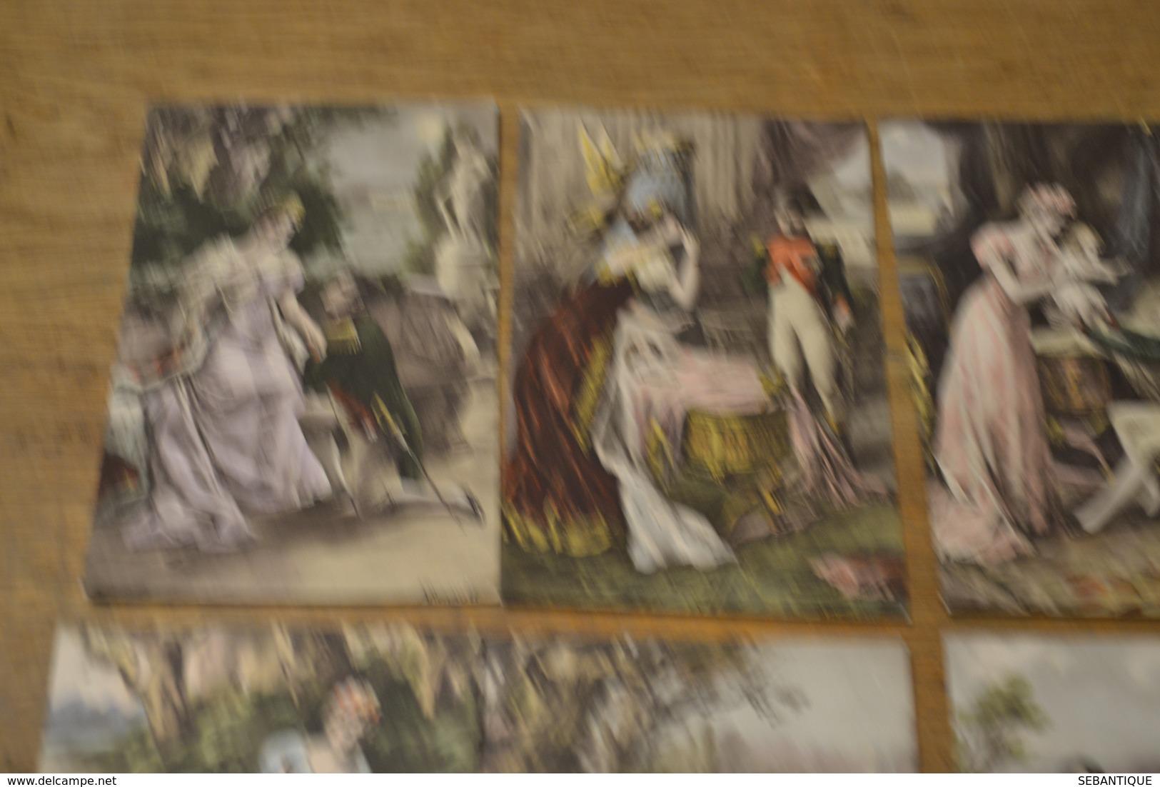 Carte Postale 1910 Lot De 6 Cartes Le Roi De Rome Napoléon Et Sa Famille Luxographie - Politieke En Militaire Mannen
