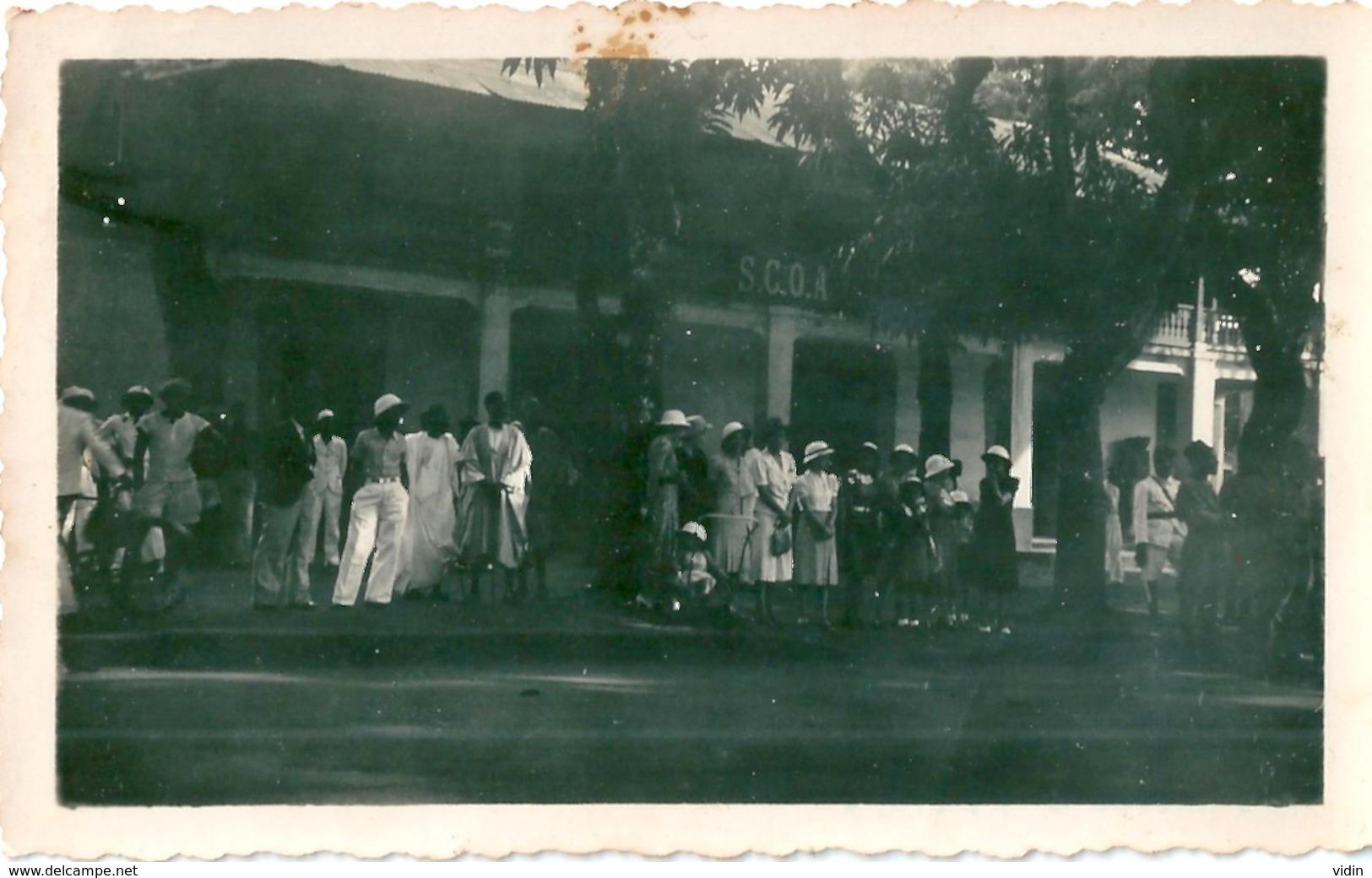 Photo Originale CONAKRY Arrivée Du Général Weygand 18/12/1940 - Personnes Anonymes
