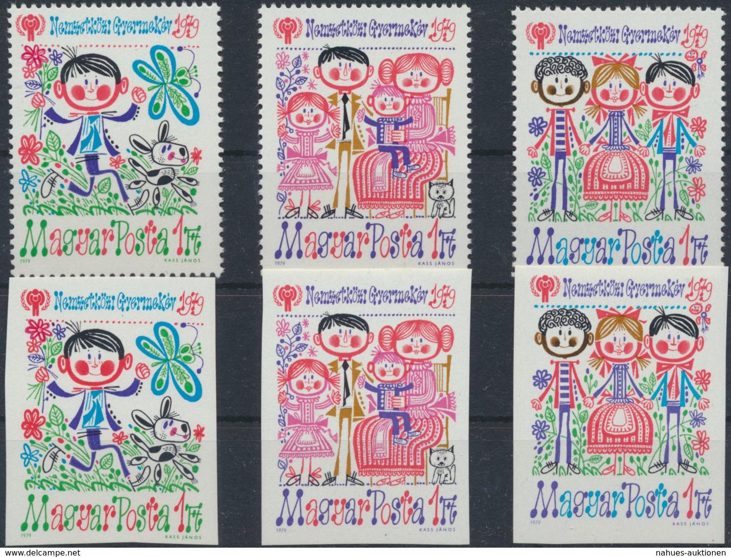 Ungarn 3335-3337 Zähnung A+B Jahr Des Kindes 1979 Komplett Postfrisch ** MNH - Ohne Zuordnung