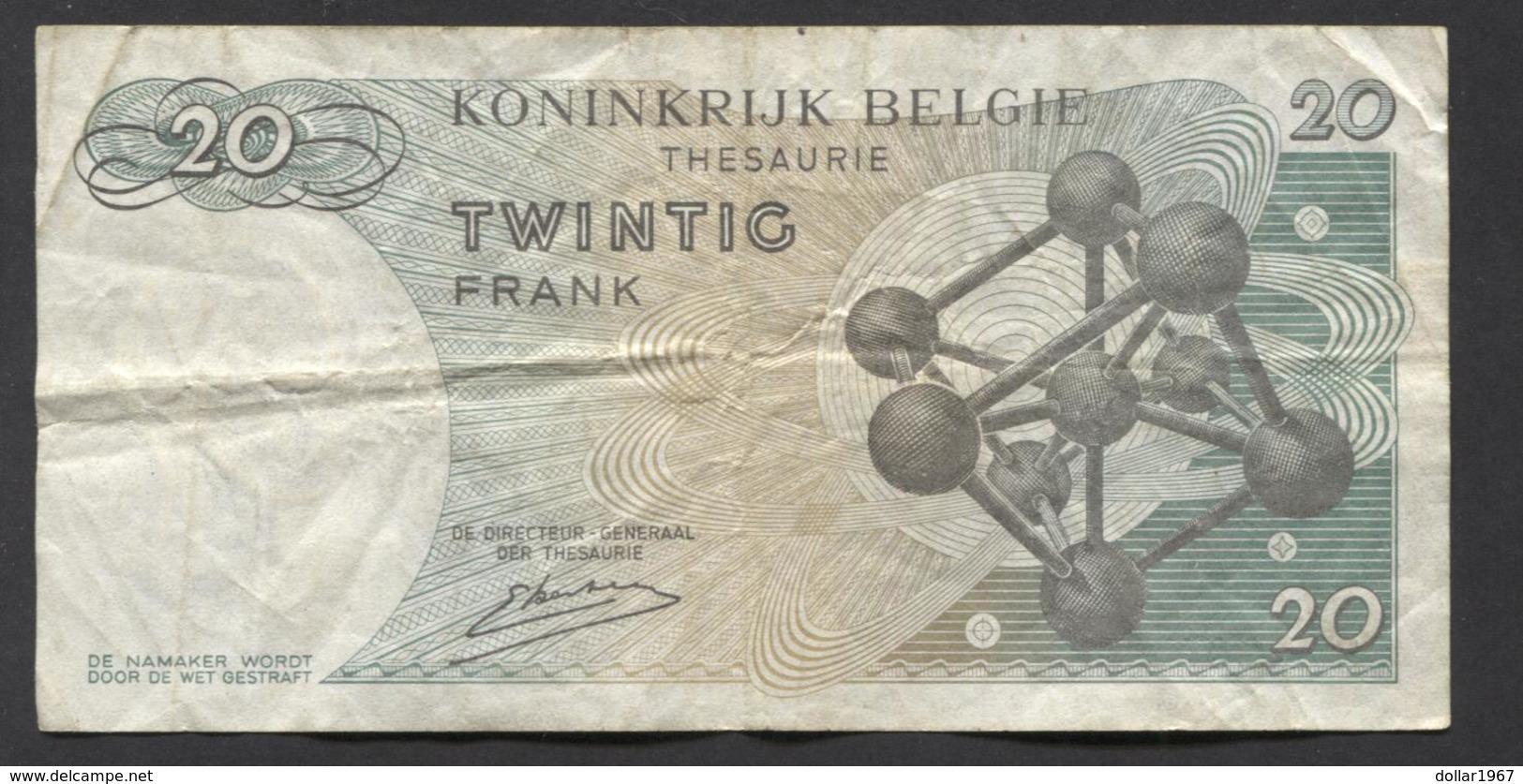 België Belgique Belgium 15 06 1964 -  20 Francs Atomium Baudouin. 3 Y 2008856 - [ 6] Treasury