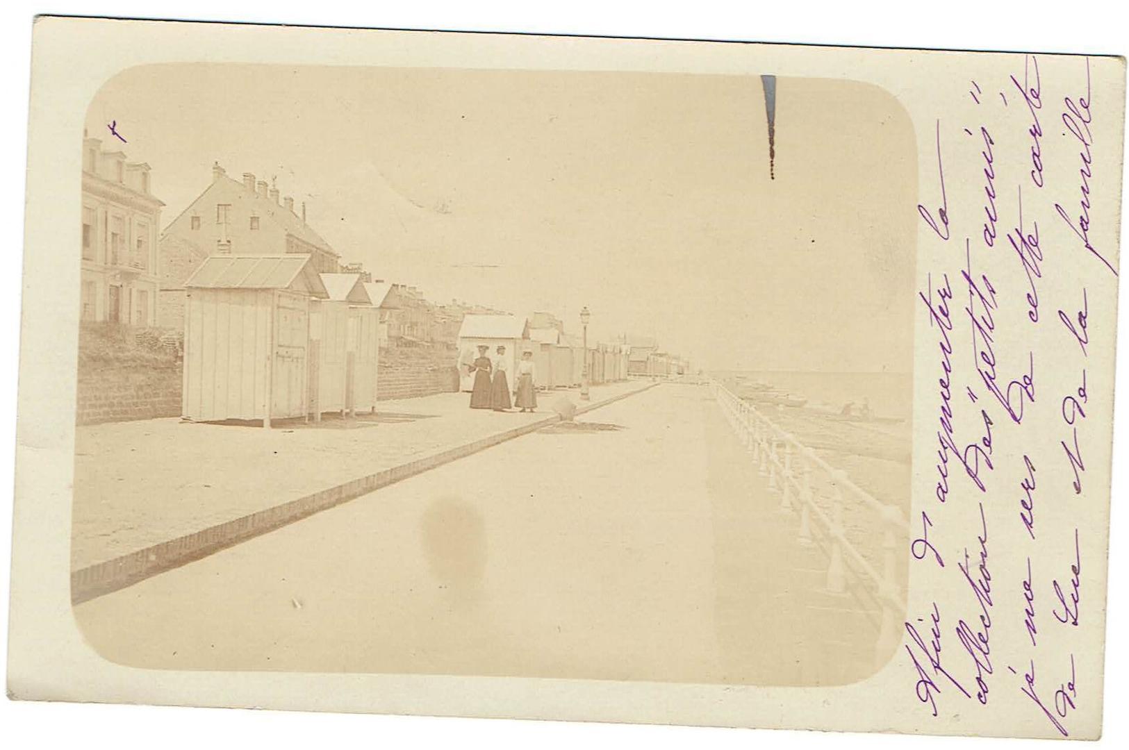 14 Luc Sur Mer - Carte Photo Bord De Mer. Datée 1906. Tb état  Personnages. - Luc Sur Mer