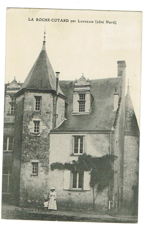 37 La Roche Cotard Par Langeais (coté Nord) , Animée, Datée 1911 Tb état. - Autres Communes