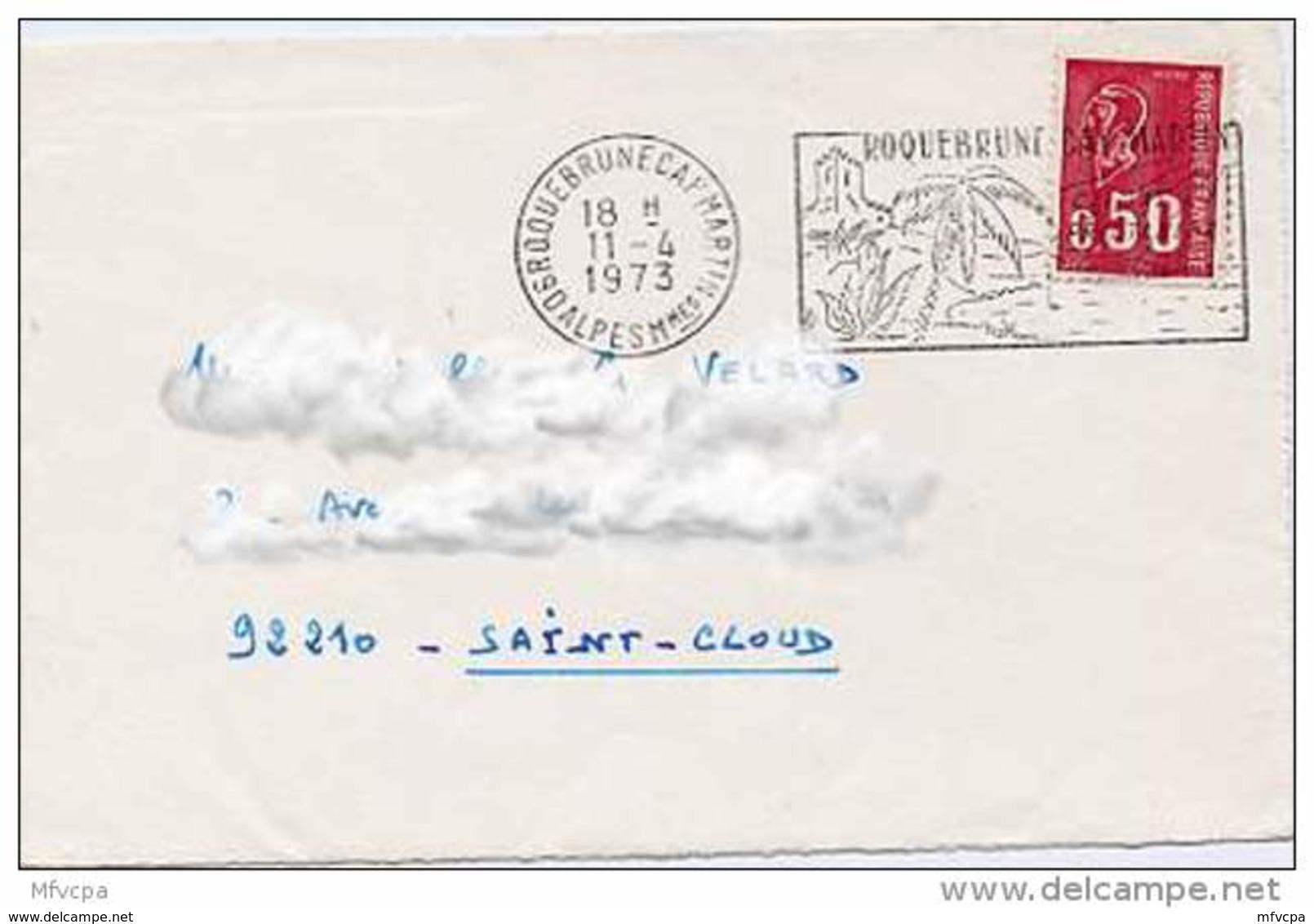 Ar1162 Secap 621a 06 Roquebrune  Alpes Mmes 11/04/1973 - Marcophilie (Lettres)