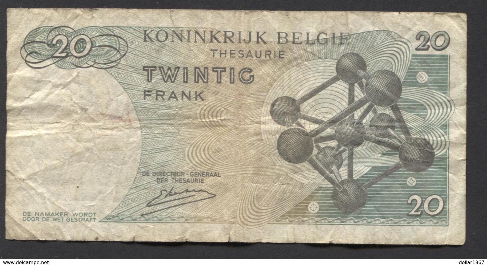 België Belgique Belgium 15 06 1964 -  20 Francs Atomium Baudouin. 4 A 2245587 - [ 6] Treasury