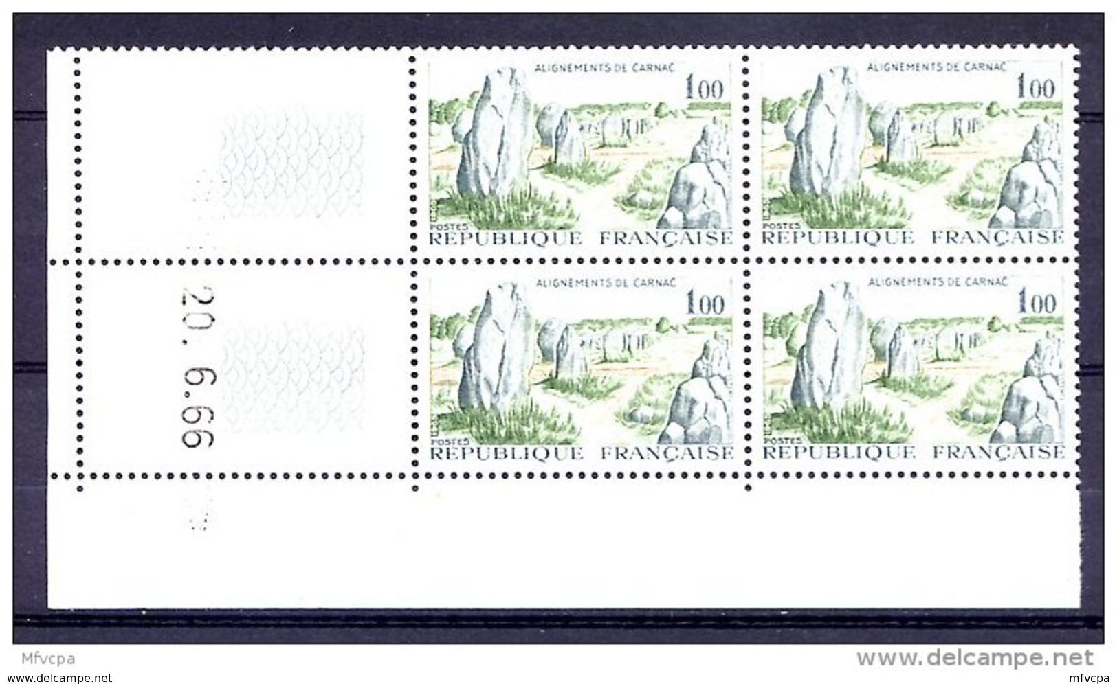 Cd5023 YvT 1440 Carnac 1.00 Coin Daté 20/06/66 6ème Tirage N** - 1960-1969