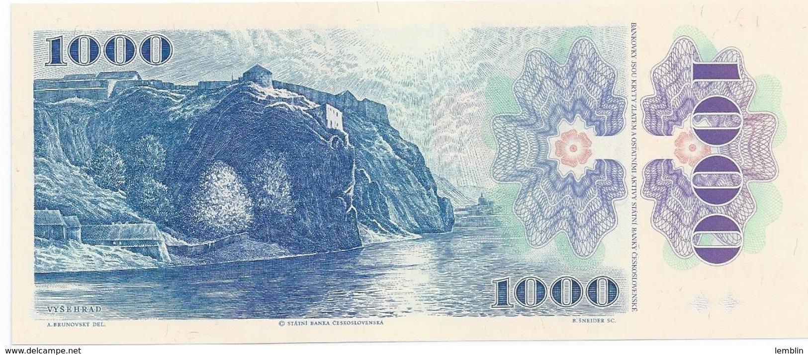 1.000 COURONNES 1985 - Czechoslovakia