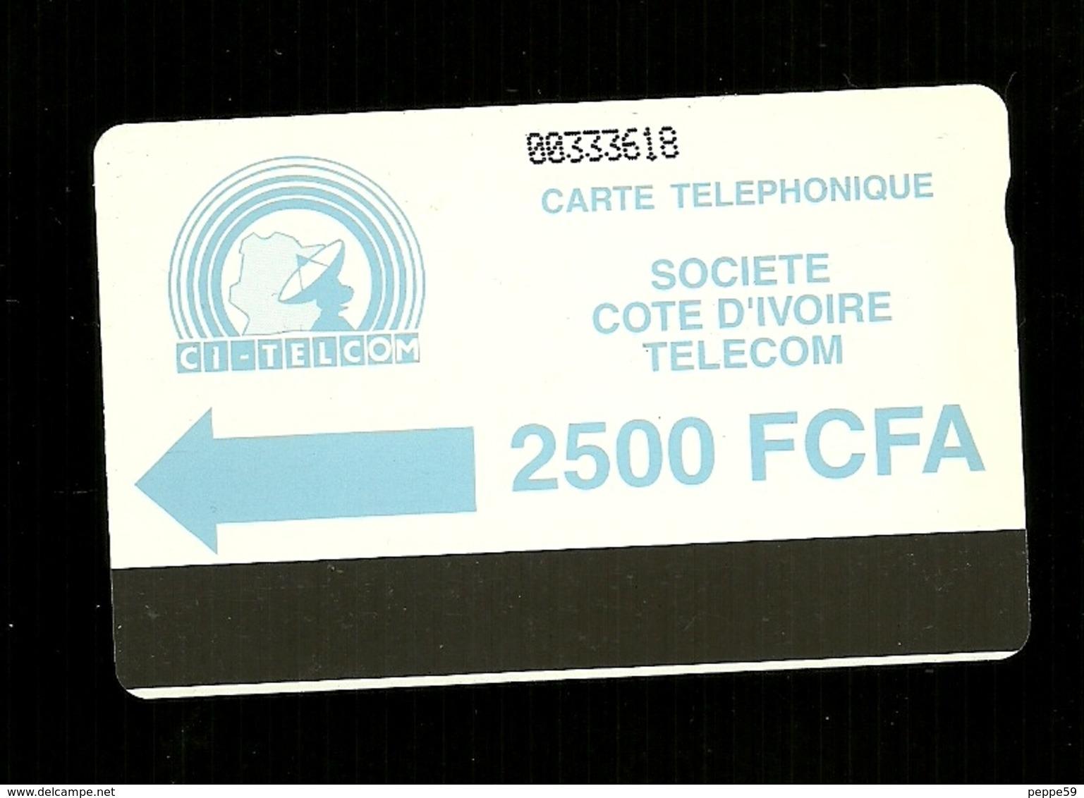 Carta Telefonica Costa D'Avorio - 2500 FCFA  -  Carte Telefoniche@Scheda@Schede@Phonecards@Telecarte@Telefonkarte - Côte D'Ivoire