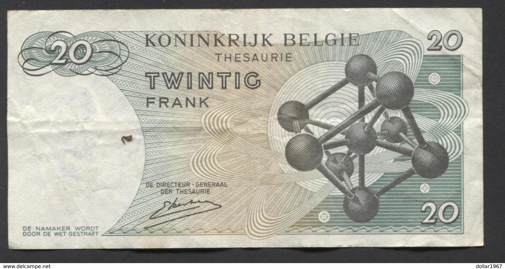 België Belgique Belgium 15 06 1964 -  20 Francs Atomium Baudouin. 4 B 1167768 - [ 6] Treasury