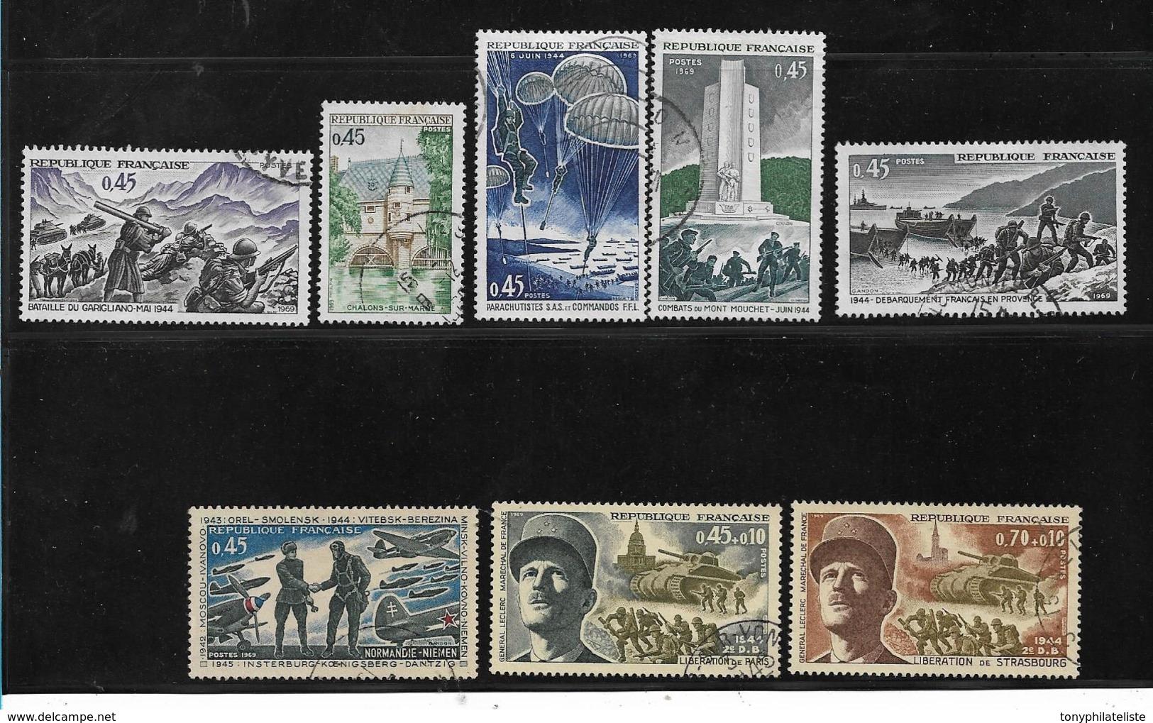 France Timbres De 1969 N°1601 A 1608 Oblitérés - France