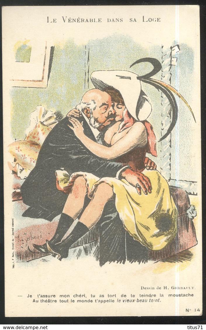 CPA Illustrée - Le Vénérable Dans Sa Loge - Pub Chambord - Illustrateur Gerbault - Other Illustrators