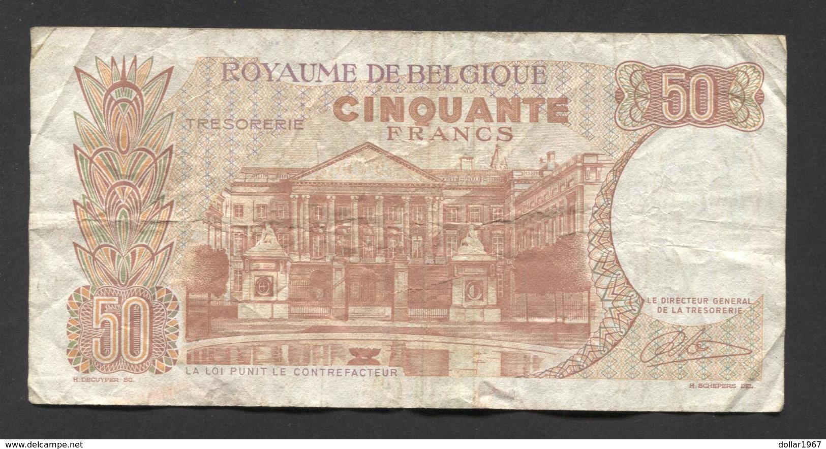 België 50 Frank 14-5- 1966 -NO: 1514 B 7864 - 50 Francs