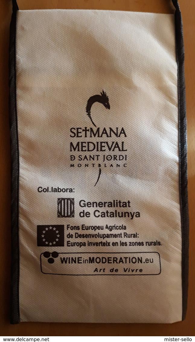 PORTACOPAS SEMANA MEDIEVAL DE SANT JORDI - MONTBLANC - MERCADO DE VINOS Y CAVAS. - Otras Colecciones