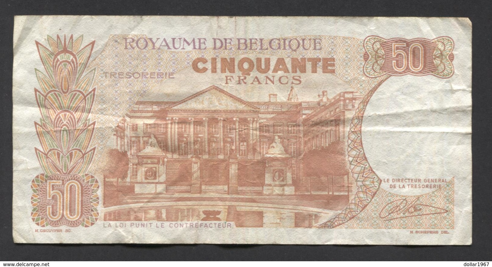 België 50 Frank 14-5- 1966 -NO: 1522 M 1725 - 50 Francs