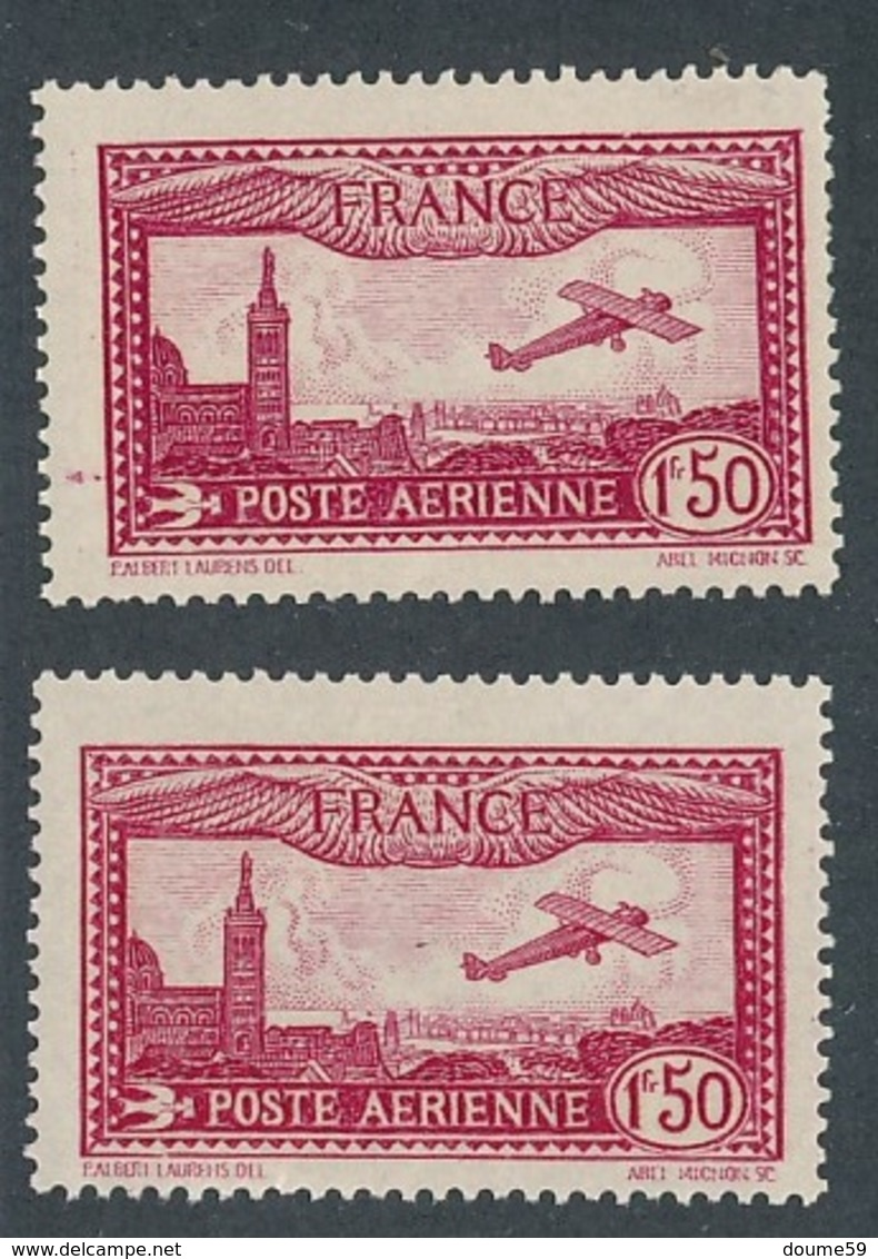 CP-385: FRANCE: Lot  PA N°5**-5* - Airmail