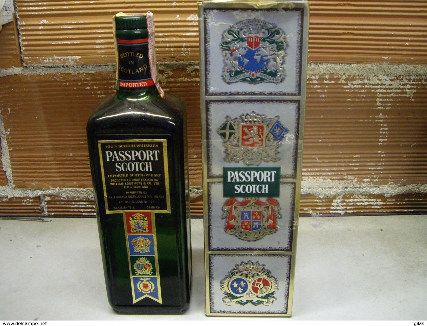 Whisky Scozzese Passport Scoth Anni 70 750 Ml Con Confezione - Spiritus