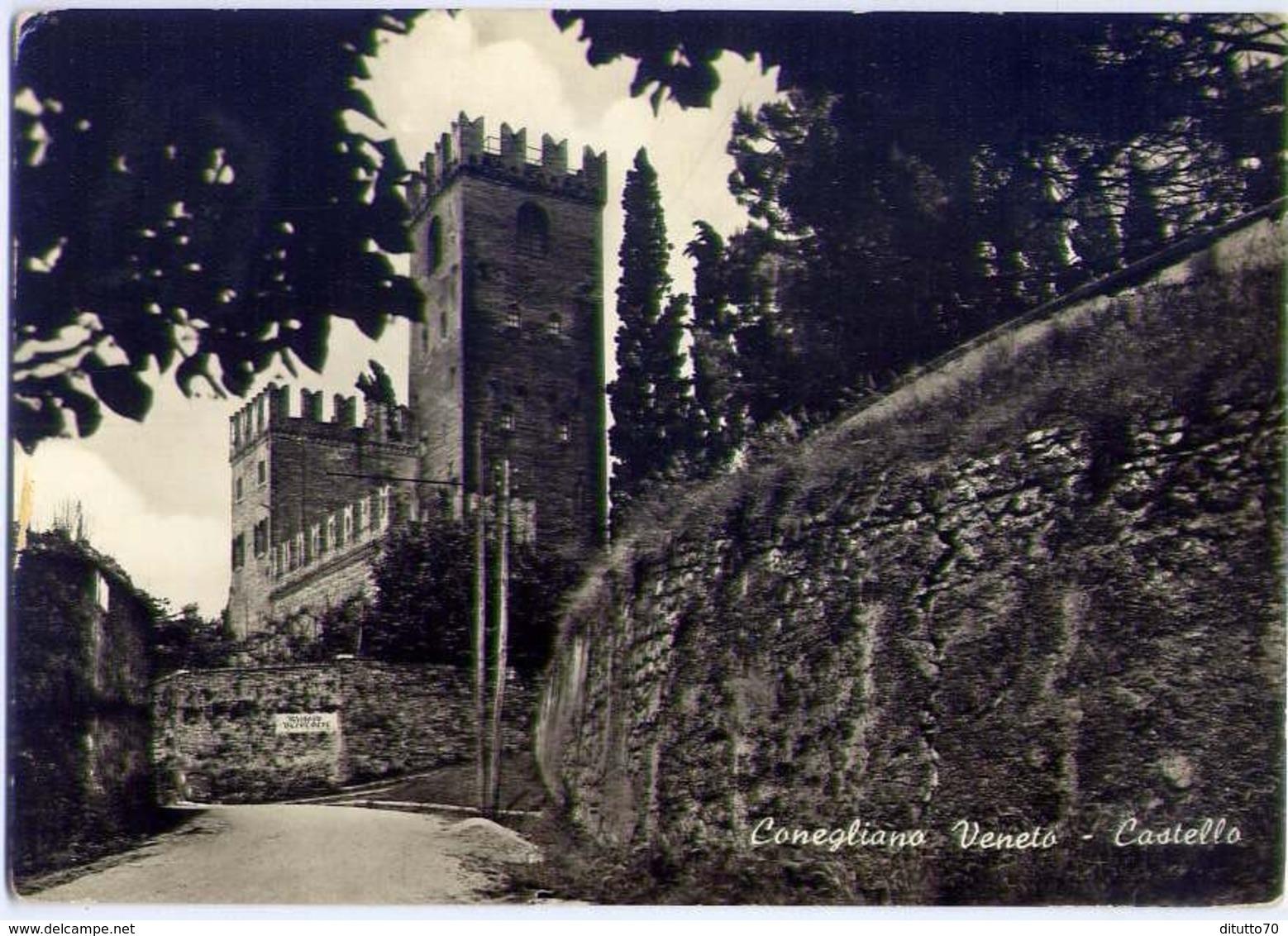 Conegliano Veneto - Castello - Formato Grande Viaggiata – Fe1 - Treviso