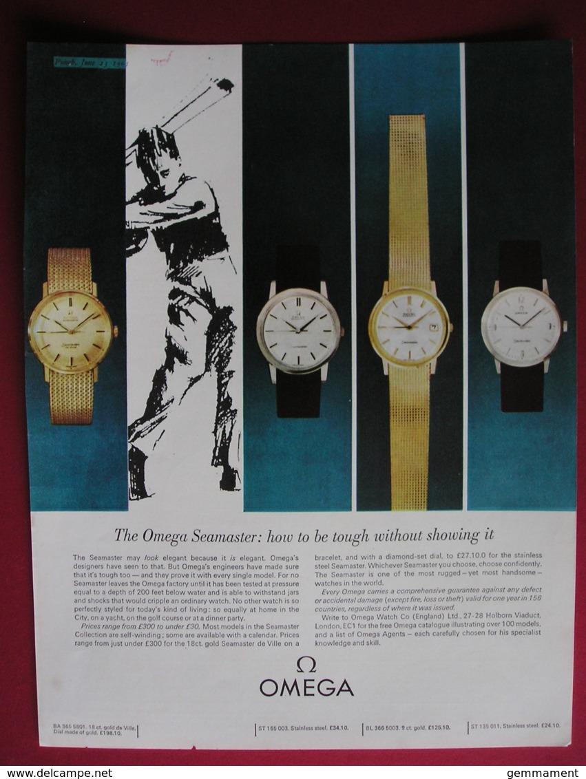 OMEGA WATCHES -ORIGINAL  1965 MAGAZINE ADVERT - Advertising