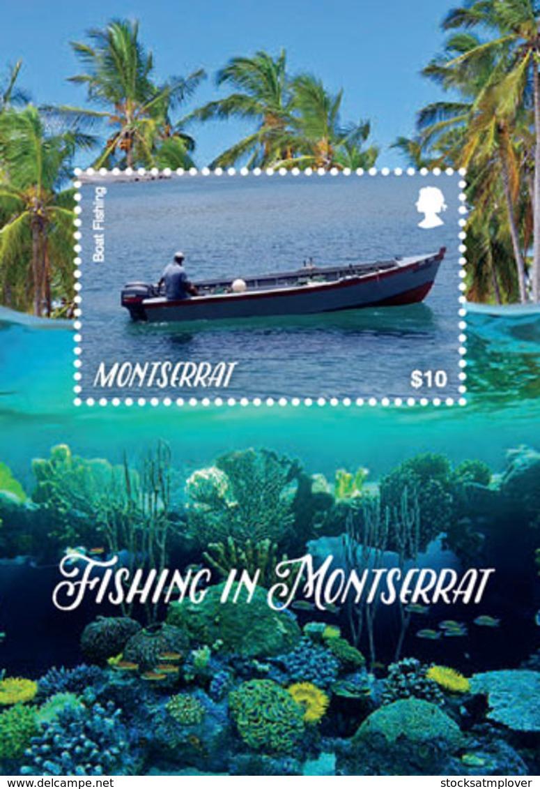 Montserrat  2018  Fauna Fishing In Montserrat ,boat  I201901 - Montserrat