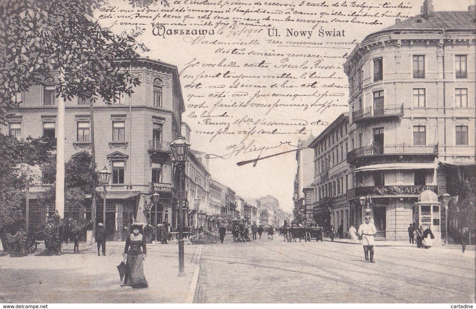 CPA Pologne / Polska  - Warszawa / Varsovie - Ulica  Nowy Swiat - 1905 - Poland