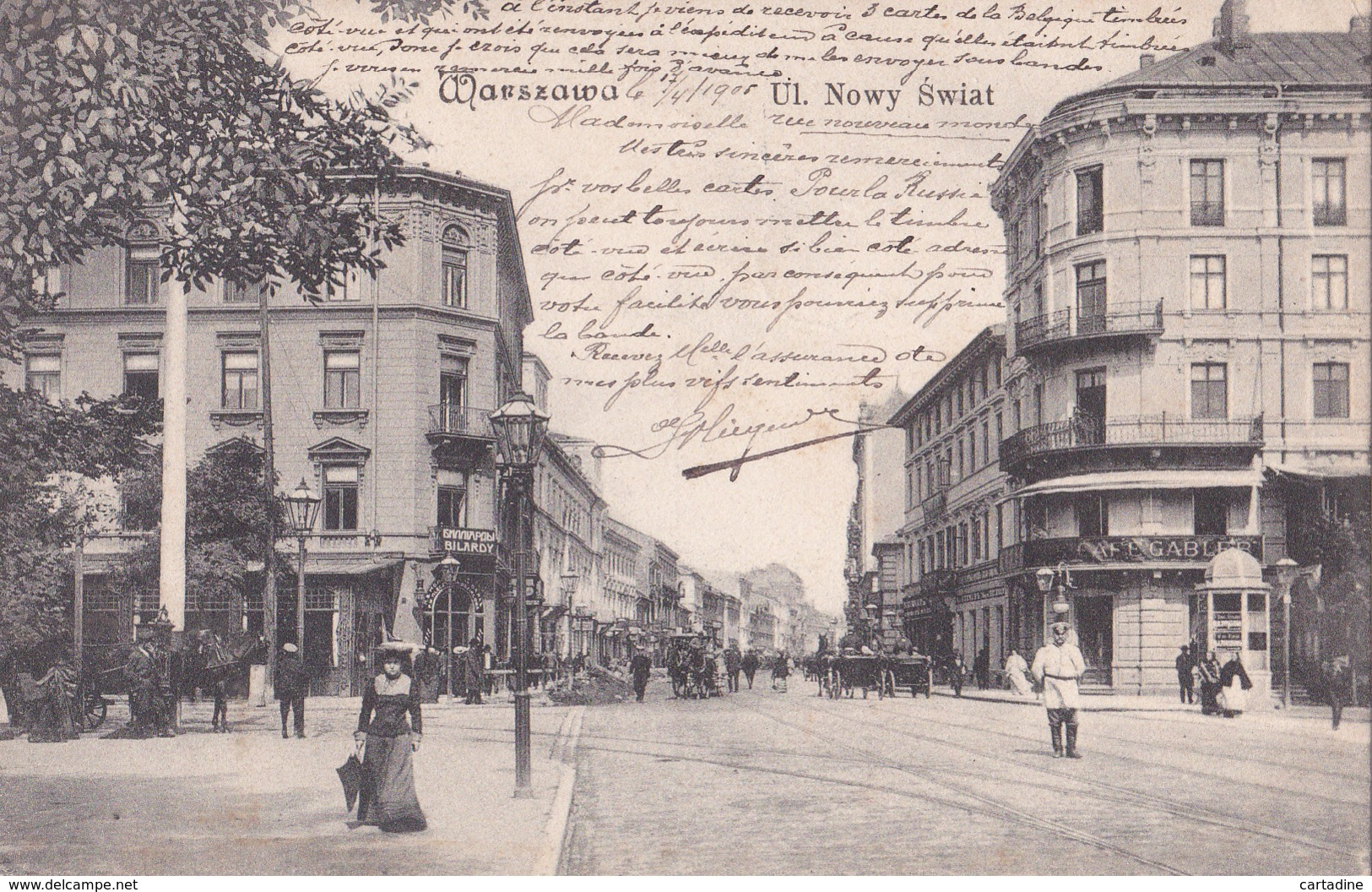 CPA Pologne / Polska  - Warszawa / Varsovie - Ulica  Nowy Swiat - 1905 - Pologne