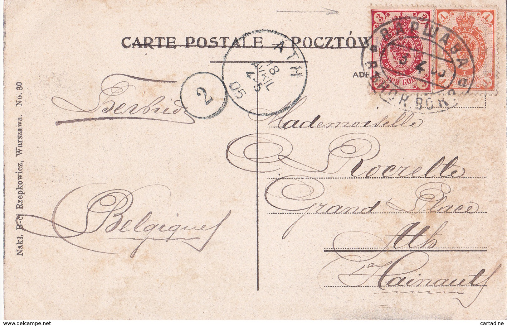 CPA Pologne / Polska  - Warszawa / Varsovie - Ulica  Nowy Swiat - 1905 - Polen