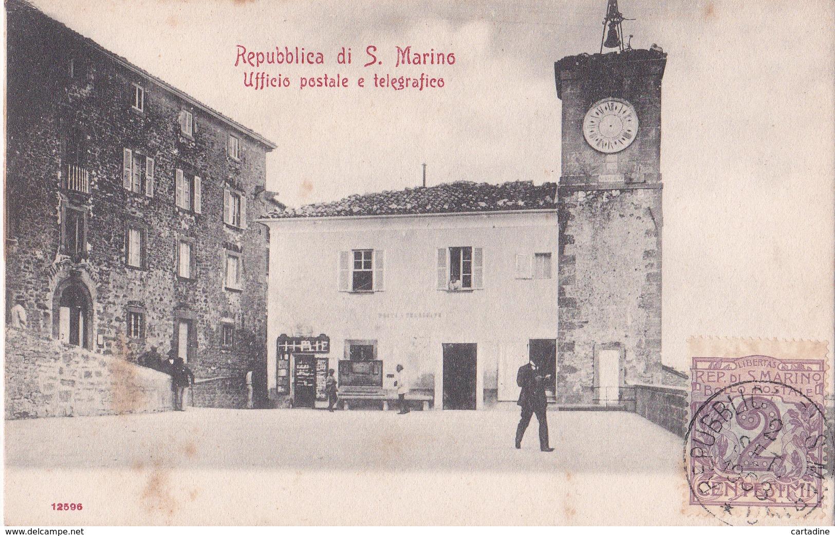 CPA  Repubblica Di S. Marino - Ufficio Postale E Telegrafico - 1903 - Saint-Marin