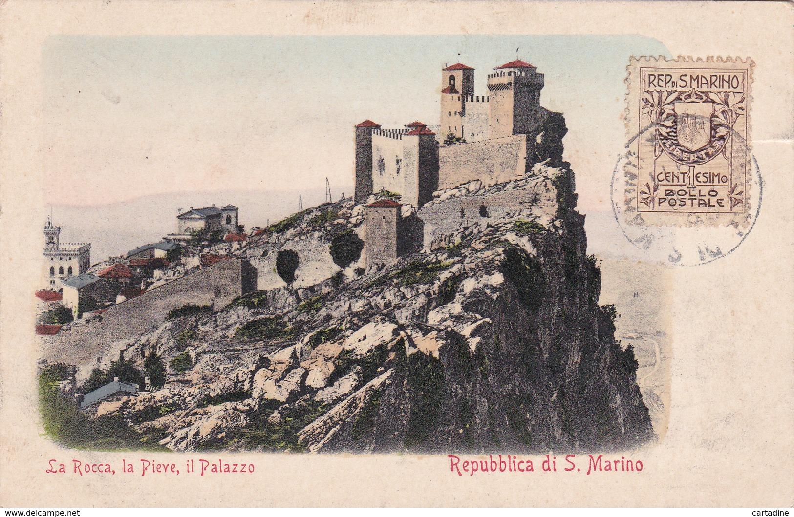 CPA  Repubblica Di S. Marino -La Rocca, La Pieve, Il Palazzo - Saint-Marin