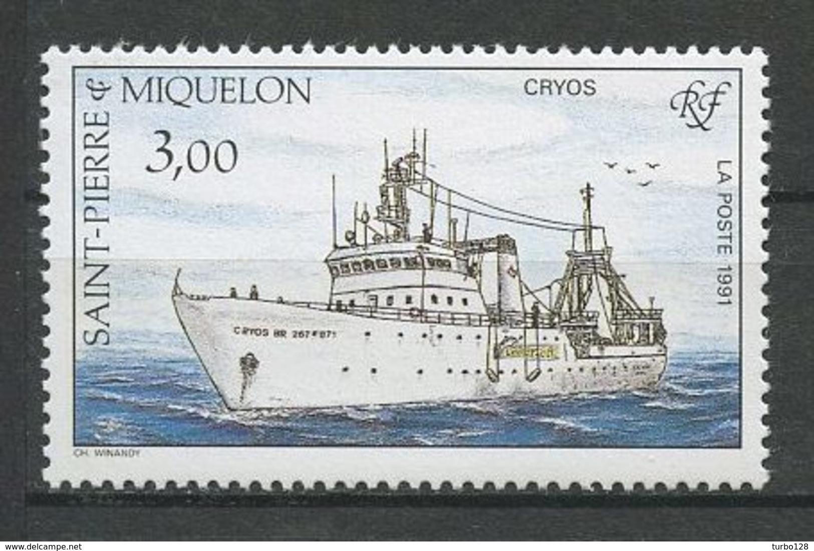SPM MIQUELON 1991 N° 550 ** Neuf MNH Superbe  C 1.60 € Bateaux Le Cryos Boats Ships Pêche Fishes - St.Pierre Et Miquelon