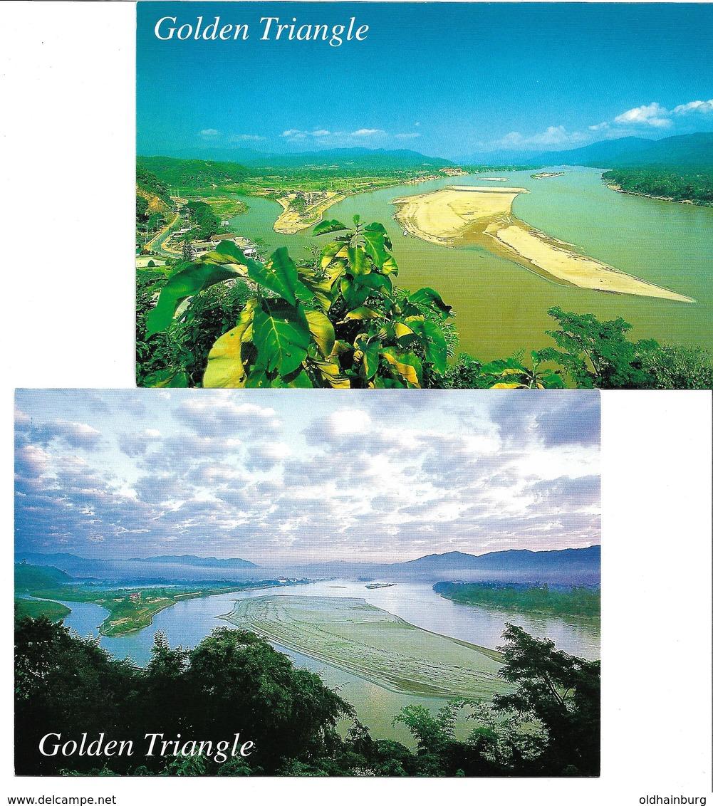 """3070y: 2AKs """"Goldenes Dreieck""""/ Rauschgift, 2 Thailand- AKs Ungelaufen Um 1980 - Gesundheit"""