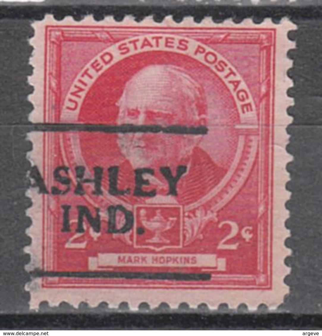 USA Precancel Vorausentwertung Preo, Locals Indiana, Ashley 701 - Vorausentwertungen