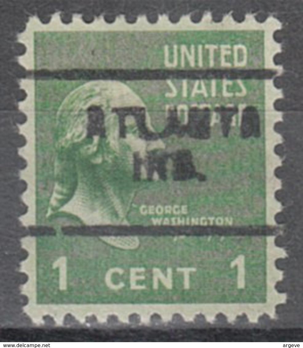 USA Precancel Vorausentwertung Preo, Locals Indiana, Atlanta 703 - United States