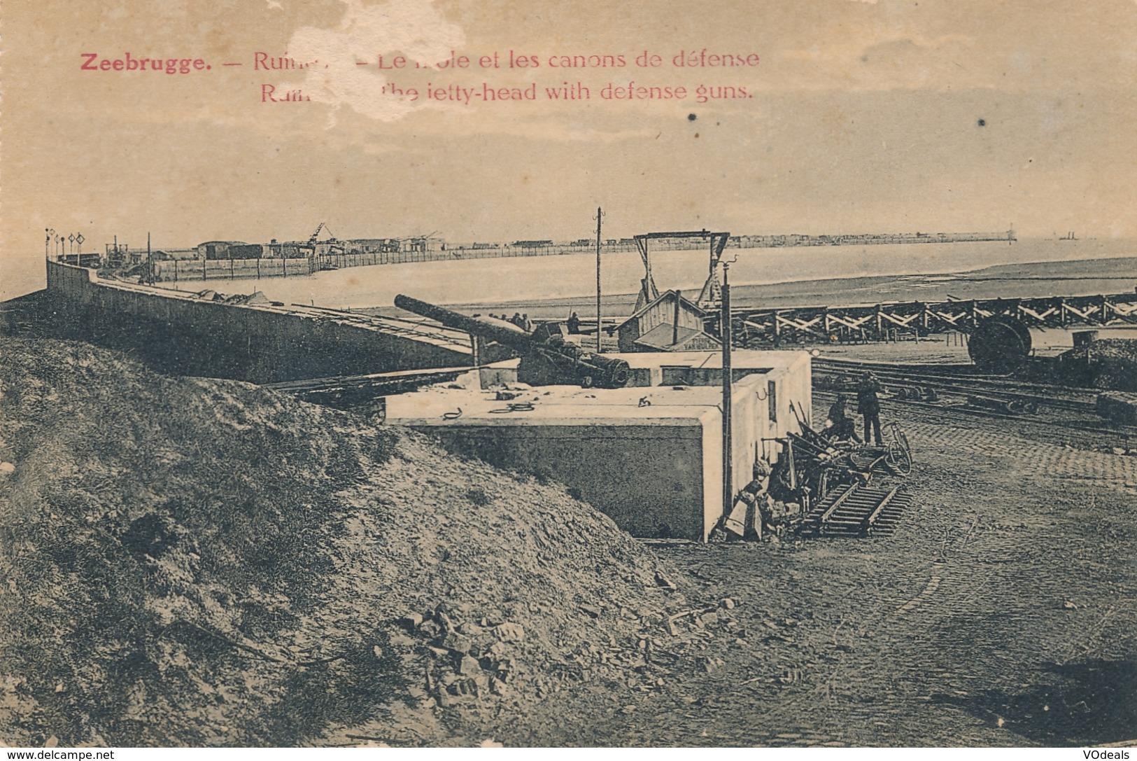 CPA - Belgique - Zeebrugge - Ruine - Les Canons De Défense - Zeebrugge