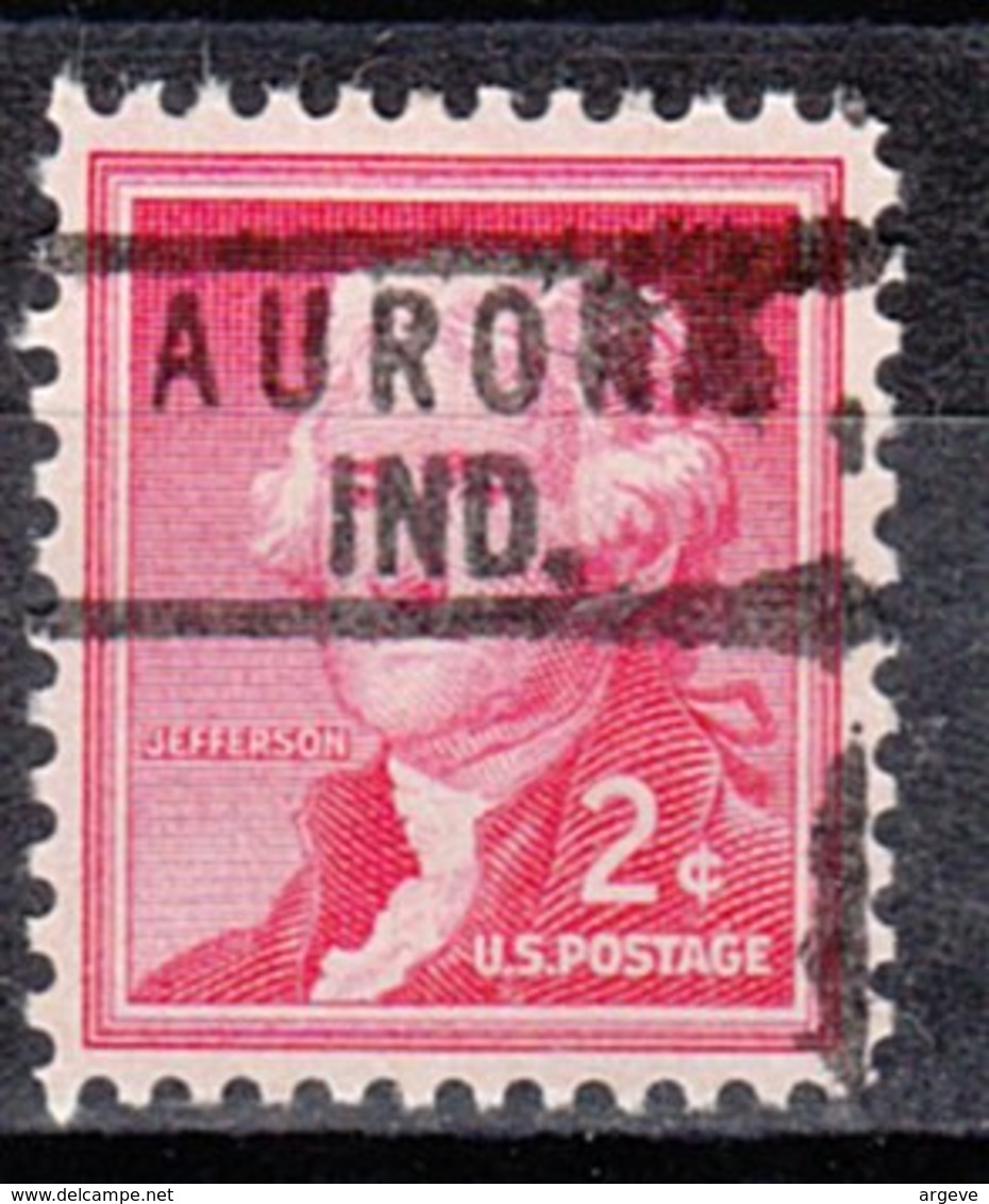 USA Precancel Vorausentwertung Preo, Locals Indiana, Aurora 818 - Vorausentwertungen