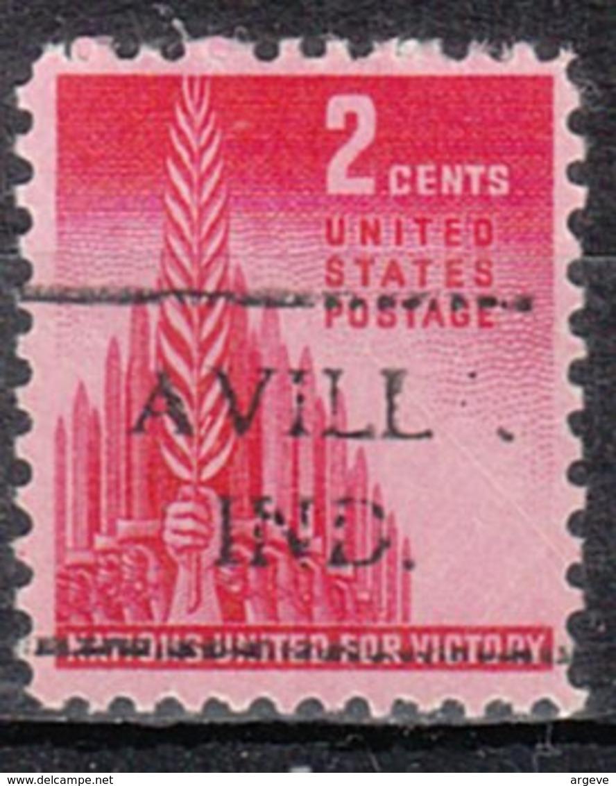USA Precancel Vorausentwertung Preo, Locals Indiana, Avilla 716 - Vereinigte Staaten