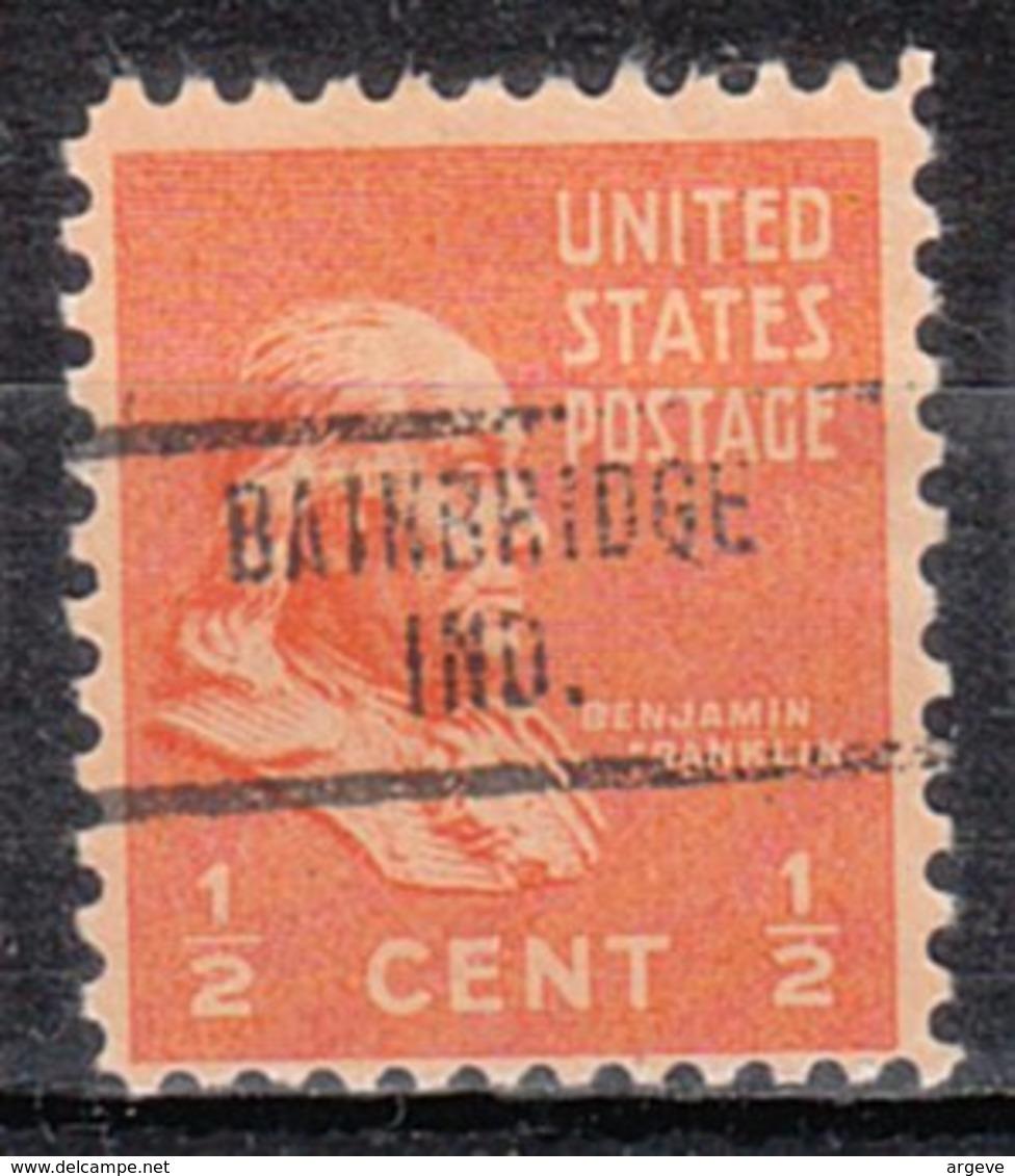 USA Precancel Vorausentwertung Preo, Locals Indiana, Bainbridge 734 - Vorausentwertungen