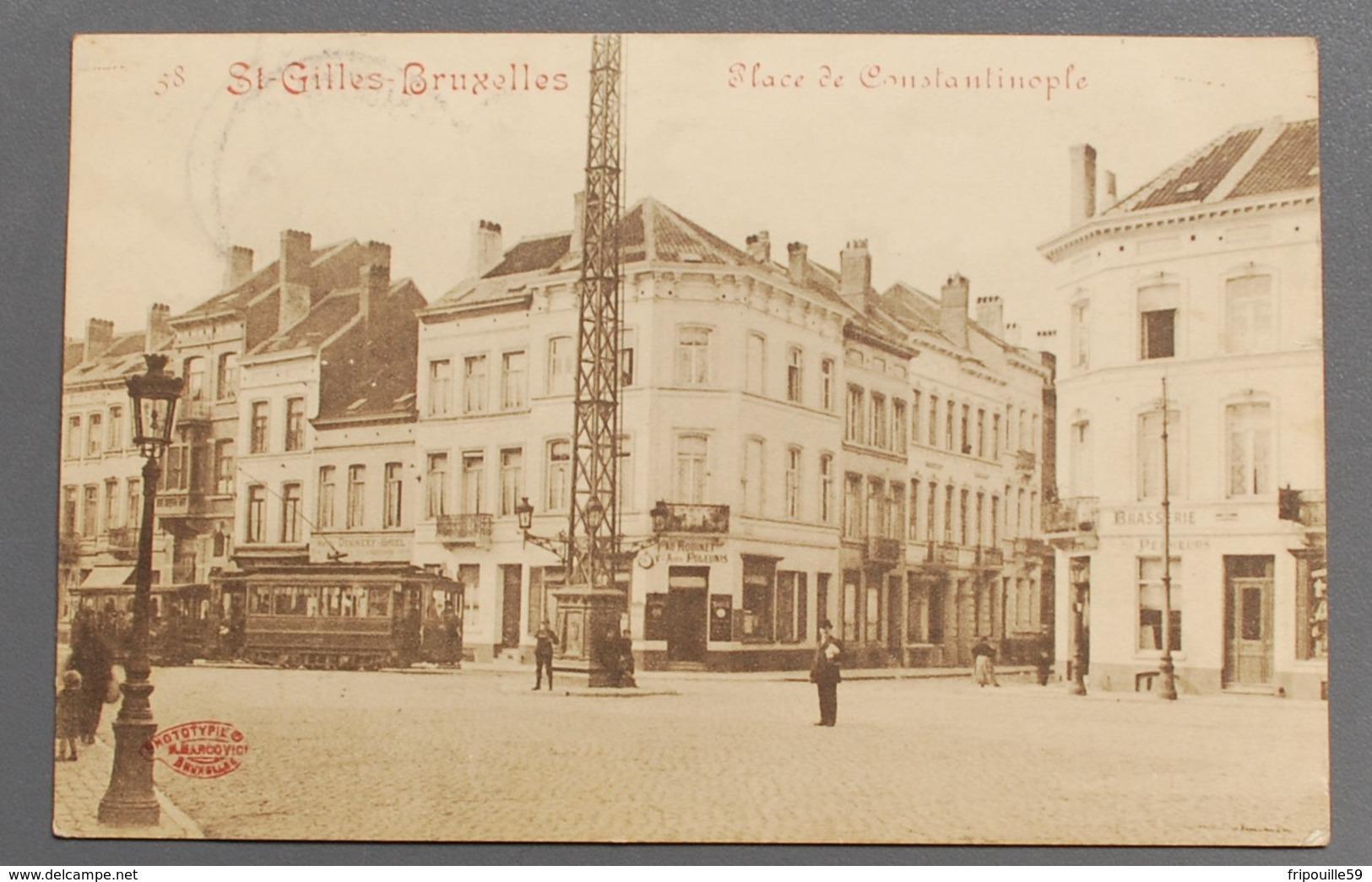 Saint-Gilles - Bruxelles - Place De Constantinople - Ph. Marcovici - 1920 - Tramway - St-Gilles - St-Gillis