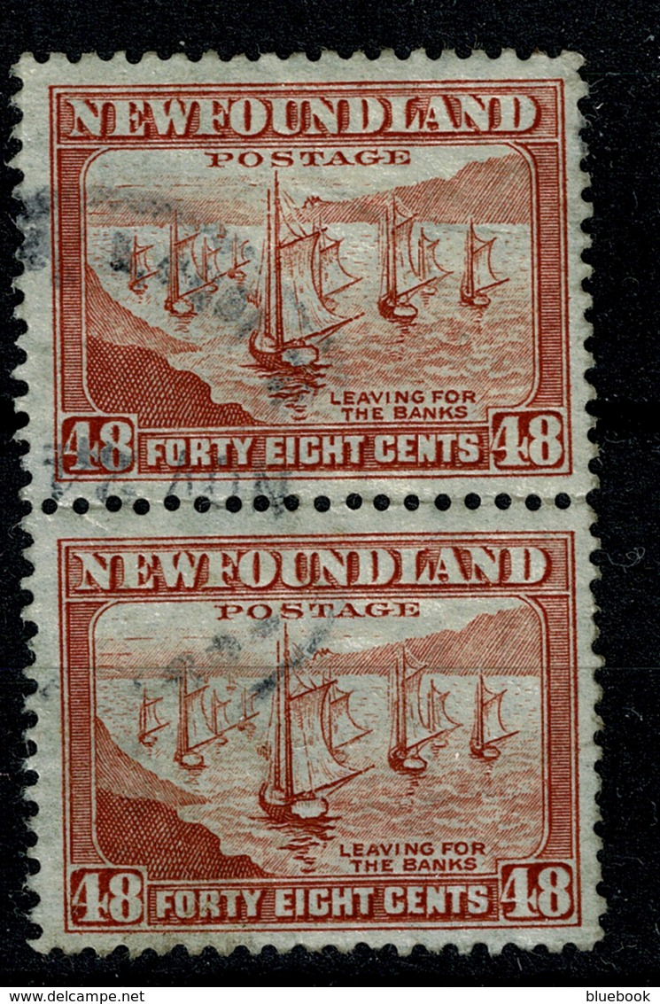 Ref 1289 - Canada Newfoundland 1938 48c - SG 228c 2 Used Stamps Cat £20+ - 1908-1947