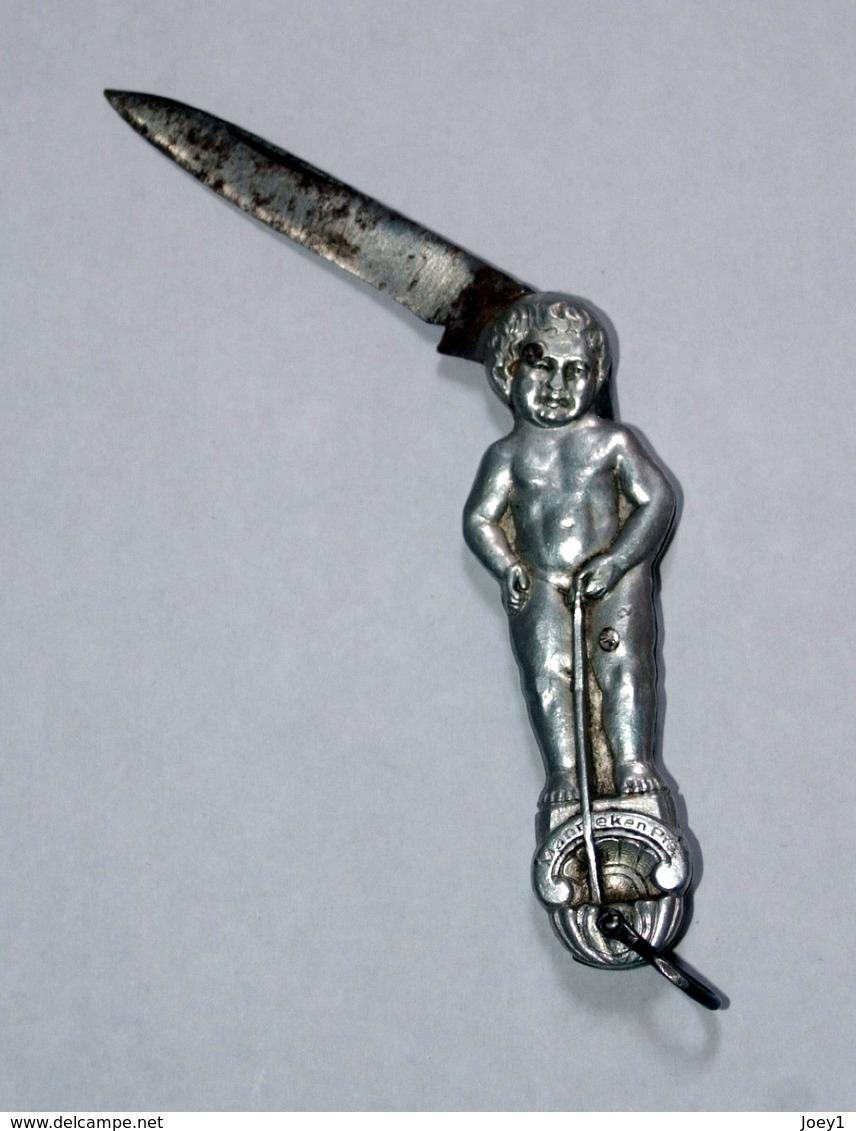 Petit Couteau Manneken Pis Ancien - Messer