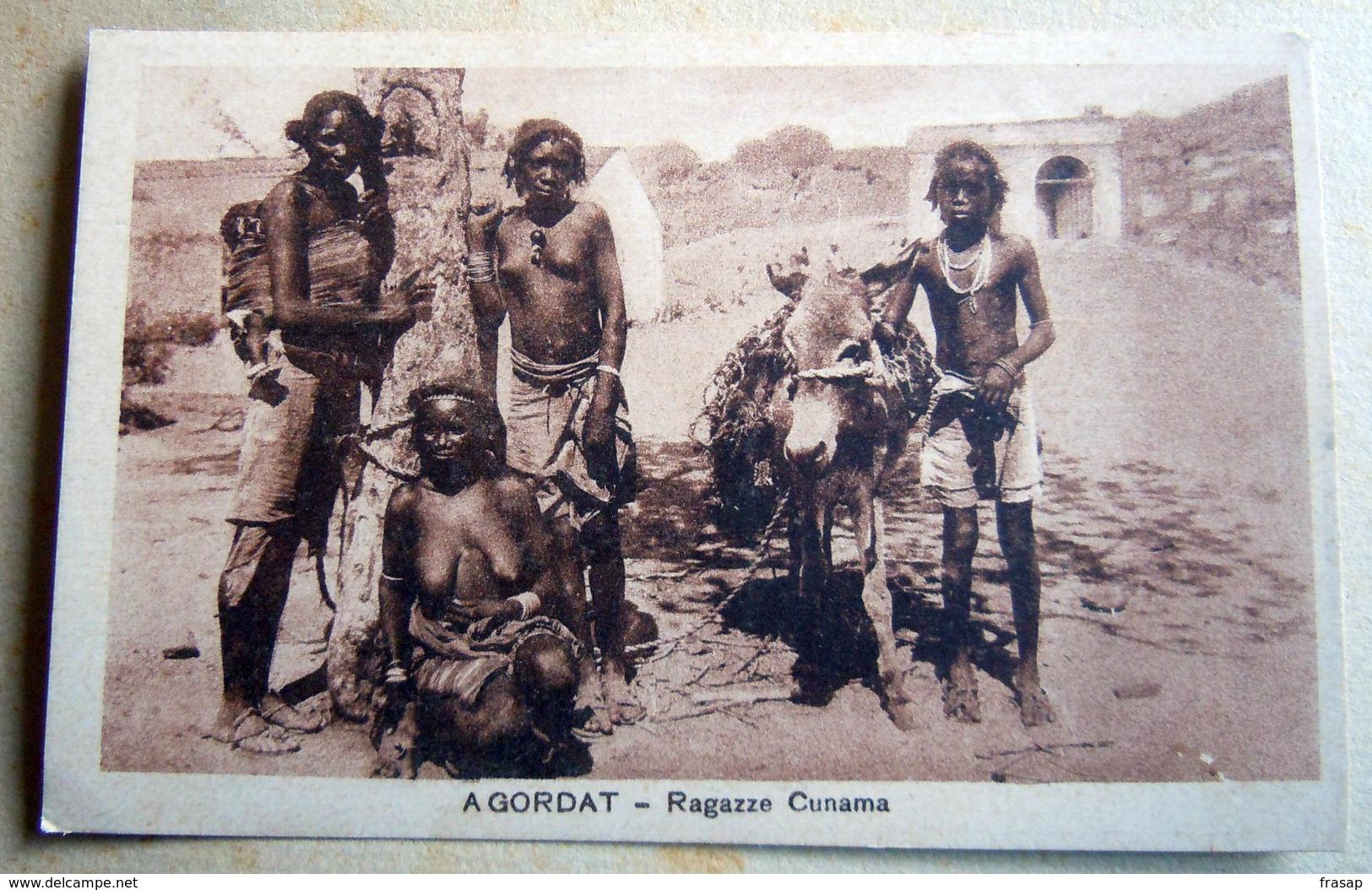 CPA-KP-PC- Erytree - COLONIA ITALIANA --  AGODART RAGAZZE CUNAMA - Eritrea