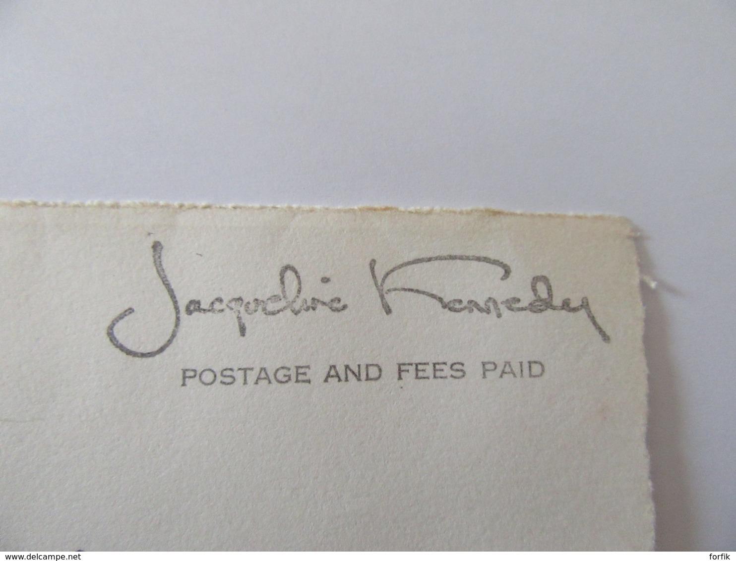 """Façade D'enveloppe En Franchise USA Vers France """"Jacqueline Kennedy"""" - Documents Historiques"""