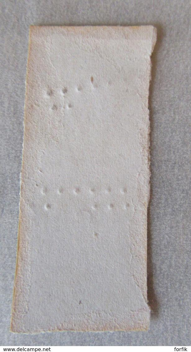 France - Paire Verticale Timbres Napoléon III 10c YT N°13B - Oblitération GC 456 - 1853-1860 Napoléon III