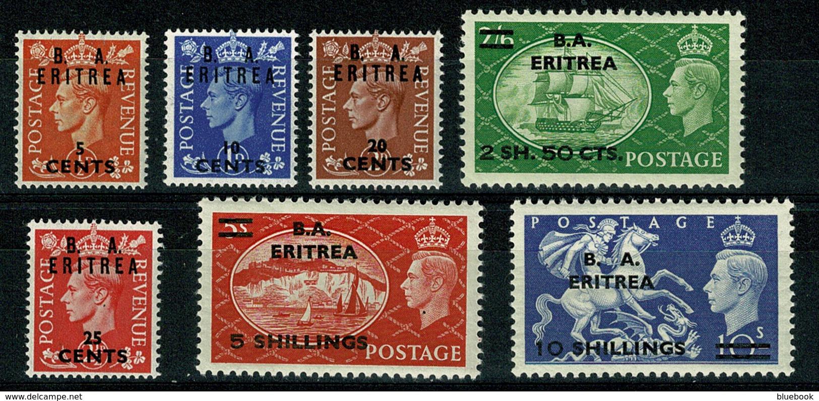 Ref 1292 - GB Stamps - British Occupation Of Italian Eritrea1951 MNH Set SG E26-E32 - Eritrea