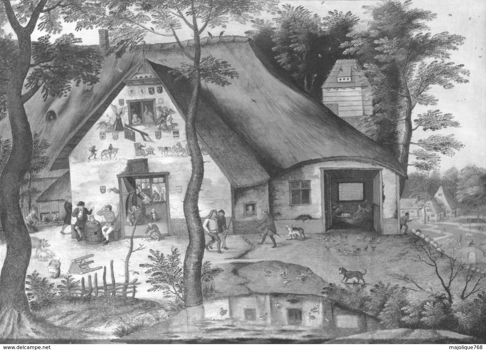 Photo- L'auberge Saint Michel - Pierre Brueghel Le Jeune- Sur Papier Fujichrome , Léger Pli En Haut à Droit - Reproductions