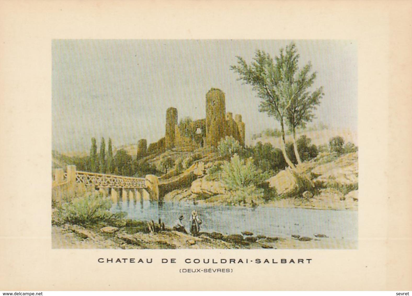CHATEAU DE COUDRAI-SALBART. -  Copie D'une Lithographie - Other Municipalities